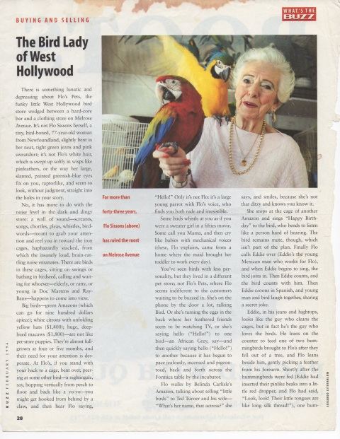 Buzz Magazine, February, 1994