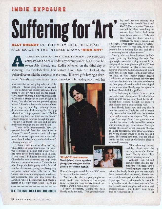 Premiere, August, 1998