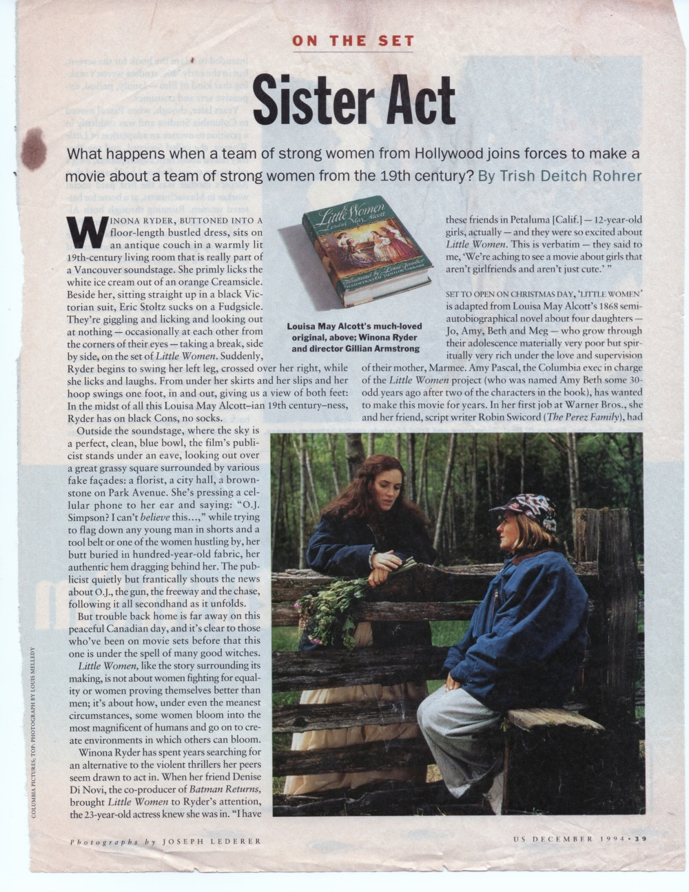 US Magazine, December, 1994