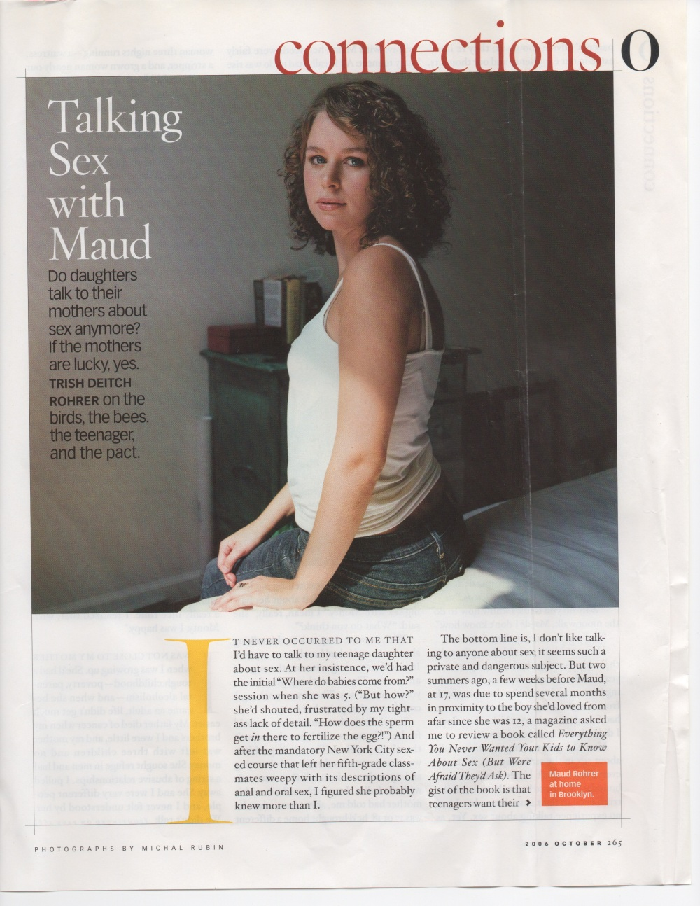 O, The Oprah Magazine, October, 2006